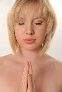 Praying Woman Image