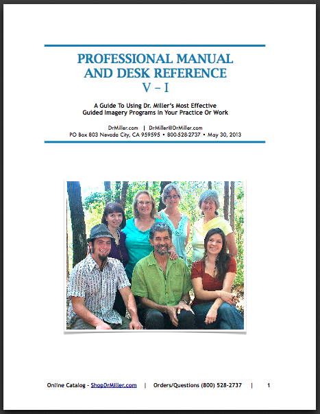 Professional Manual Cover_ A guide to using Guided Imagery Audio in Your Healing Work